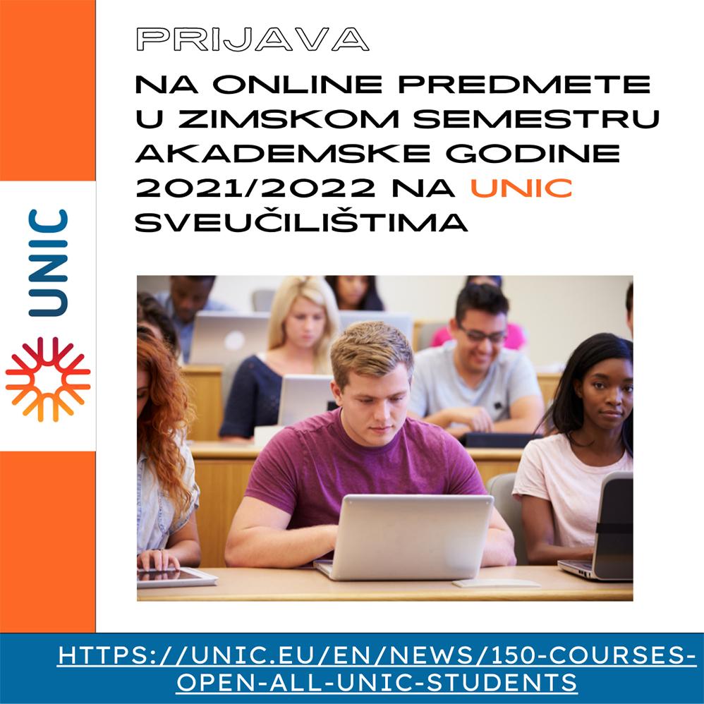 prijava_na_online predmete_unic_sveucilistima_plakat